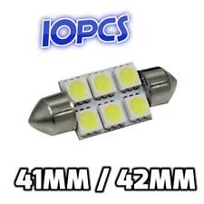 10pcs x CAR 12V LED 41MM / 42MM FESTOON INTERIOR WHITE LIGHT BULB 5050 6SMD