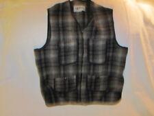 Preowned Men's Size Small Black & White L.L. Bean Wool Blend Vest