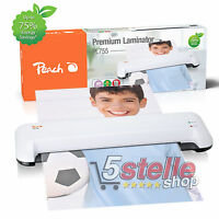 PLASTIFICATRICE A CALDO A3 Peach PL755 + KIT POUCHES FOGLI CARTA DOCUMENTI FOTO