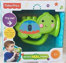 """FISHER PRICE MY FIRST """"REAL"""" TRUMPET  ~ NEW IN BOX"""