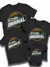 Original Remix Encore Music Matching Organic T-Shirt Dad Mum Kids Family Baby