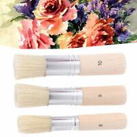 3Stk Art Paint Brush Extra große Schablonenpinsel mit reinen Borsten Set Bastel