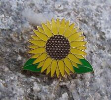 Beautiful Helianthus Giant Yellow Sunflower Summer Sun Flower Brooch Pin Badge