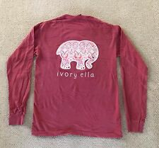 29b1cf8a3c101 Maroon Dark Red Ivory Ella Long Sleeve Abstract Pattern Size S