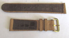 New Old Stock two tone leather watch band 19.0 mm 3/4 inch