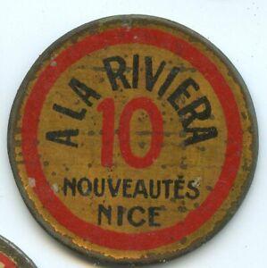 Timbre Monnaie Nice A la Riviera 10 Centimes Rouge