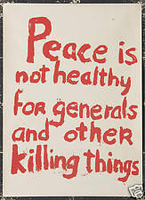 Original Vintage Poster Anti Vietnam Anti War Peace 60s Student Protest Liberal