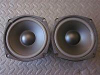 """NEW (2) 5.25"""" Woofer Shielded Speakers.5-1/4.8 ohm.Pin Cushion.five inch PAIR"""