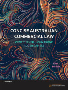 NEW Concise Australian Commercial Law By Clive Turner Paperback Free Shipping