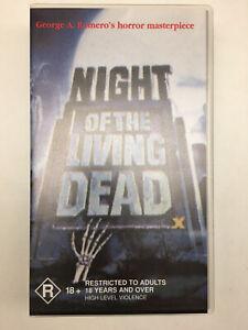 NIGHT OF THE LIVING DEAD - GEORGE ROMERO - B/W 1968 VHS VIDEO