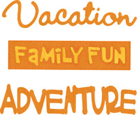 Vacation Family Fun Adventure Quickutz Thin Metal Die SK-0005 NEW!