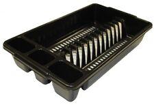 Tontarelli Dish / Plate / Cutlery Sink Drainer - Small -  Black
