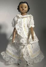 Hitty doll in antique outfit, wooden doll