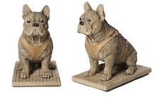 French Bulldog Frenchie Lifelike Stone Cast Ornament Garden Statue by DGS UK
