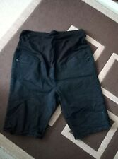 maternity over bump Black demin shorts size 20