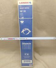 """LENOX 10"""" HACKSAW BLADES 100 PACK 250MM 18TPI 1.4MM  SHATTER RESISTANT USA MADE"""