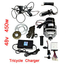 48V 450W Brush Motors Accessories Kit Electric Trike  Conversion + Charger