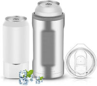 Can Cooler, Double Walled Stainless Steel Insulated Cooler for 12oz Regular Cans