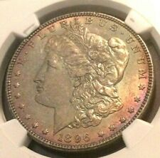 1896 🔥 NGC MS62 🔥 Morgan Dollar 🔥 Rainbow Toned ! 🔥 🔥 🔥 blue green red !