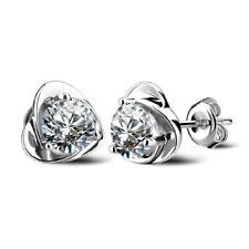 New 925 Sterling Silver Heart Stud Earrings Jewellery Womens Uk