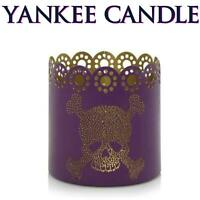 Yankee Candle Bedazzled Skull Jar Candle Holder 💀 Halloween 💀 NEW IN BOX 💀