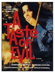 A TASTE OF EVIL(1971) :  BARBARA STANWYCK/RODDY MCDOWALL : TV THRILLER DVD-R