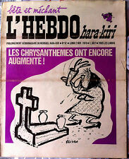 L'Hebdo Hara Kiri n°92 du 2/11/1970; Les Chrysanthemes ont encore augmenté !
