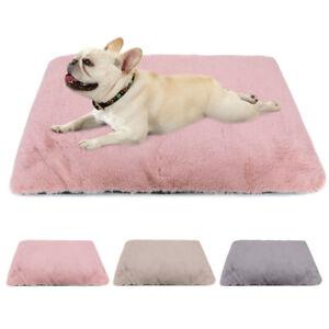 Fluffy Pet Dog Cat Blanket Bed Soft Plush Warm Cozy Cushion Pad Sleeping Mat S-L