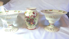 Folknordic 3 piece Center Piece Vase Bowl Christmas Holiday