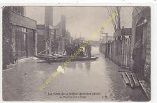 CPA 75016 PARIS Crue Seine 1910 Rue Van Loo à Passy barque animée Edit J.H.