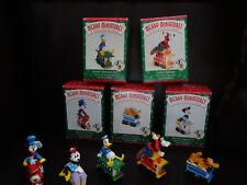 Disney Hallmark Merry Minatures Mickey Mouse Train Set Fab 5 Mib Free Ship