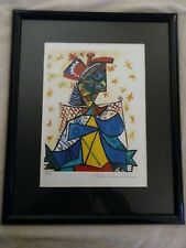 Picasso seated woman with red blue hat collection Domaine Picasso L/E 188/500