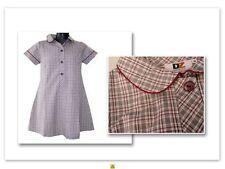 BNWT SIZE 18 CHEST 94cm GIRLS SCHOOL UNIFORM DRESS GREY MAROON CHECK DZ CUMMINS