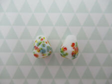 Vintage Glass Teardrop Beads Pear Beads White Tombo Beads 12X9mm - From Japan