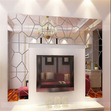 7pcs Art Moire Mirror Removable Wall Sticker/Decal Geometric puzzles Home Decor