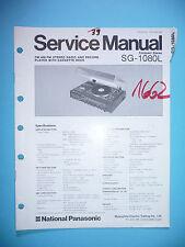 MANUAL DE Manual de servicio para Panasonic sg-1080l, original