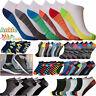 6 Paires Baskets Doublure Chaussettes Hommes Femmes Coton Riche Sports Size 6-11