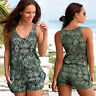 Women Boho Mini Playsuit Ladies Summer Holiday Beach Jumpsuit Romper Shorts Pant