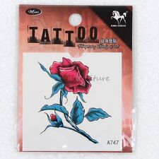 Temporary Tattoo Body Art Beautiful Flower Red Rose Flash Tattoos Sticker