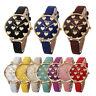 Fashion Women Dress Casual Watch Faux Leather Band Quartz Dress Wrist Watches AU