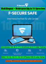 F-Secure SAFE 2018 Internet Security 5 Geräte 19 Sprachen Windows / Android/ Mac