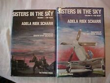1980s SIGNED 2-VOL SET, SISTERS IN THE SKY, THE WAFS, WASP, ADELA RIEK SCHARR