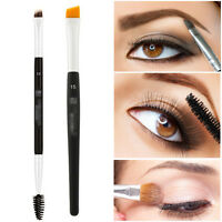 Pro Double Sided Ended Eyebrow Makeup Wand Brow Shaping Angled Eyelash Brush