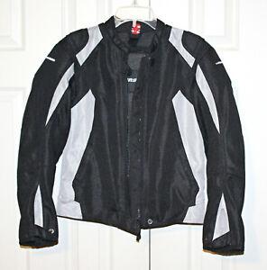 FirstGear Premium Riding Equipment Women's Black/Gray Motorcycle Jacket Size XS