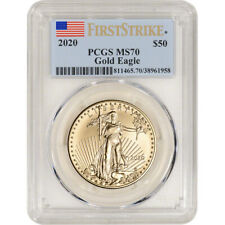 2020 American Gold Eagle 1 oz $50 - PCGS MS70 First Strike