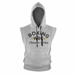 WBC Hoody Sleeveless - grey, Gr. S - XXL. Boxen, Boxing. 100% Baumwolle.Pullover