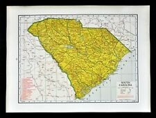 US CONFEDERATE STATES 1862 SC MAP BAMBERG BARNWELL BEAUFORT BERKELEY COUNTY huge