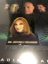 STAR TREK NEMESIS TRADING CARDS- CC7 DR.BEVERLY CRUSHER