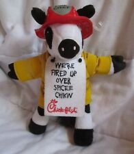 Chick-fil-A Plush Cow Fireman We're Fired Up Over Spicee Chikin 2010 Plush