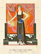 Vintage Lady Deko Nouveau Frau Vogel NEU Kunstdruck Poster Bild cc4612